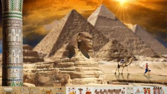 Egyptian sphinx giza great wallpaper