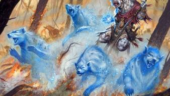 Fantasy art spirit hyenas shaman gnoll Wallpaper