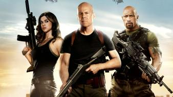 Joe bruce willis skyscapes dwayne johnson retaliation wallpaper