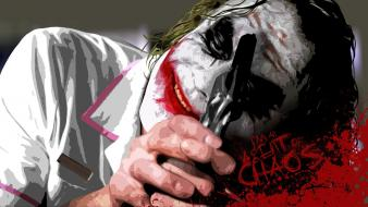 Joker chaos typography dark knight nurse uniform wallpaper