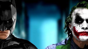 Joker christian bale heath ledger dark knight wallpaper