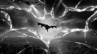 Knight rises broken glass greyscale light beams wallpaper