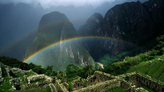 Landscapes nature earth machu picchu Wallpaper