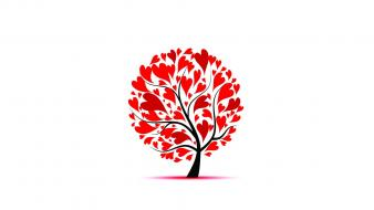 Love trees amor Wallpaper