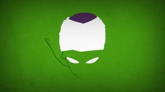 Minimalistic piccolo dragon ball z green background blo0p wallpaper