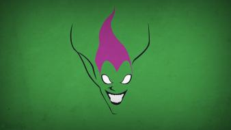 Minimalistic spider-man green goblin background villians blo0p wallpaper