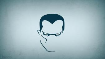 Minimalistic superheroes colossus blue background blo0p wallpaper