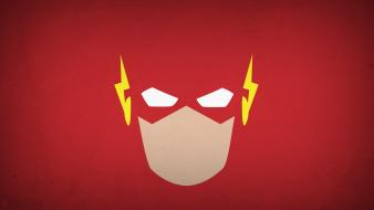Minimalistic superheroes flash comic hero red background blo0p wallpaper