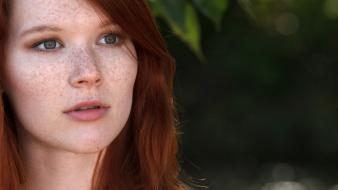 Outdoors freckles faces mia sollis natural lighting wallpaper