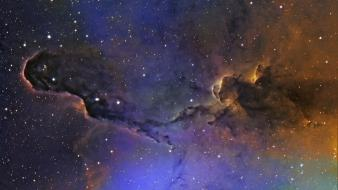 Outer space stars galaxies nebulae view Wallpaper