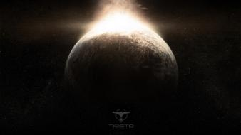 Outer space tiësto plants planetes wallpaper