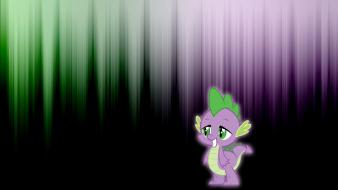 Pony glow spike pony: friendship is magic wallpaper
