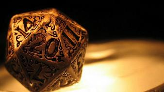 Rpg golden d20 wallpaper