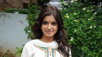 Smiley face saree indian samantha ruth prabhu wallpaper
