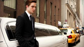 Suit men buildings actors robert pattinson limousines Wallpaper
