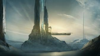 Tower halo deviantart digital art artwork forerunner Wallpaper