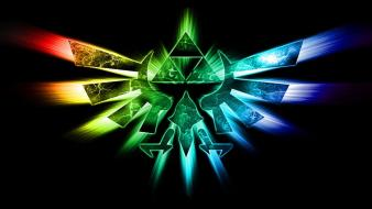 Triforce the legend of zelda vivid colors wallpaper