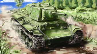 War tanks world ii artwork kv-1 russians wallpaper