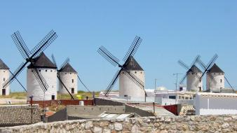 Wind spanish spain stone wall windmills wallpaper
