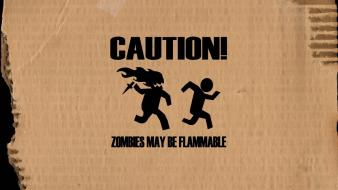 Zombies may caution wallpaper