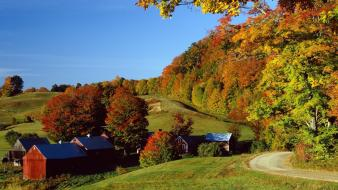 Autumn (season) woodstock vermont wallpaper