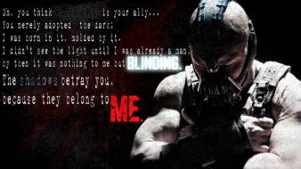 Batman movies text bane the dark knight rises wallpaper