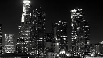 Black and white cityscapes los angeles wallpaper