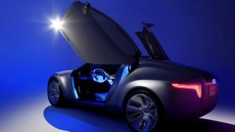 Blue cars concept art 2006 ford reflex wallpaper
