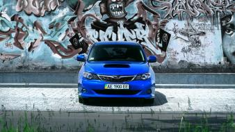 Blue cars japanese subaru impreza wallpaper