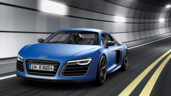 Blue germany roads audi r8 v8 speed wallpaper