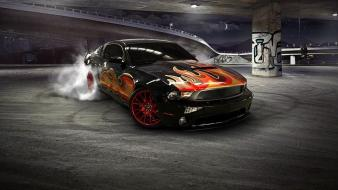 Cars ford drifting mustang upscaled Wallpaper