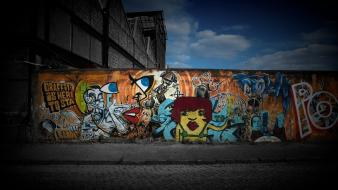 Cartoons graffiti artwork Wallpaper