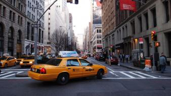 Cityscapes streets taxi cities wallpaper