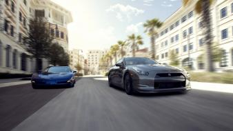 Corvette nissan gtr automobile cars wallpaper