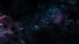 Dark dual screen outer space Wallpaper