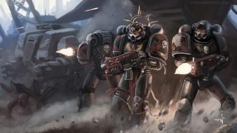 Death space marines artwork squad warhammer 40k wallpaper