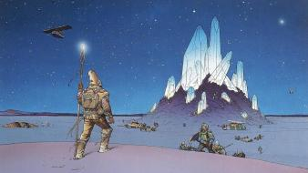 Diamonds traditional art moebius iv french artist Wallpaper