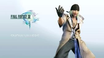 Final fantasy video games xiii snow villiers wallpaper