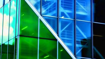 Green blue glass wallpaper