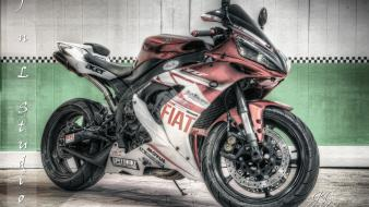 Hdr photography motorbikes yamaha r1 races speed wallpaper