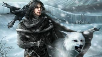 Jon snow george r. martin nights watch wallpaper