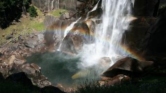 Landscapes nature rainbows waterfalls wallpaper