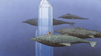 Minerals traditional art underwater moebius french artist wallpaper