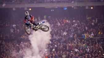 Motocross james stewart jump supercross ama js7 Wallpaper