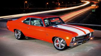 Muscle cars widescreen chevy nova Wallpaper