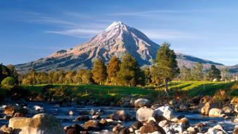 Nature new zealand mount taranaki wallpaper
