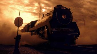 Nature vancouver steam engine british columbia royal hudson wallpaper