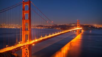 Night usa golden gate bridge san francisco cities Wallpaper