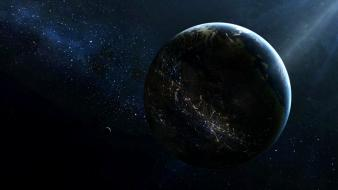 Planets science fiction wallpaper