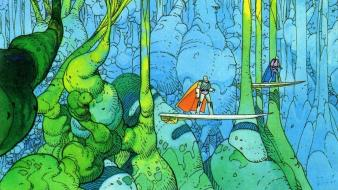 Plants artwork traditional art moebius french artist Wallpaper